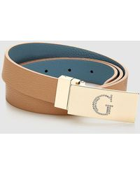 Guess - Wo Reversible Brown And Blue Belt - Lyst