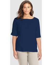 Denim & Supply Ralph Lauren   Plus Size Navy Blue T-shirt With French Sleeves   Lyst