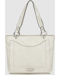Pepe Moll - Gray Tote Bag With Topstitching Detail - Lyst