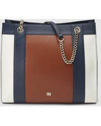 da40c500423 Ted Baker Large Color Block Shopper Bag in Pink - Lyst