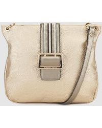 Robert Pietri - Wo Gold Crossbody Bag With Multicoloured Band - Lyst
