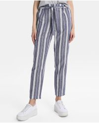 Green Coast - Blue Striped Trousers - Lyst