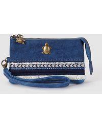 Caminatta - Case In Blue Tones With Zip And Wrist Strap - Lyst