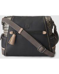 Caminatta - Black Crossbody Bag With Coconut Details - Lyst
