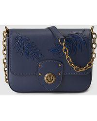 a195209133 Lyst - Lauren By Ralph Lauren Bexley Heath Medium Leather Messenger ...