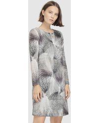 Escolá - Long Sleeve Geometric Print Dress - Lyst