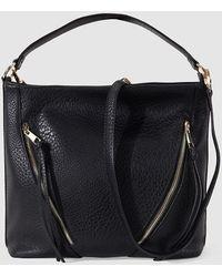 El Corte Inglés - Black Hobo Bag With Outer Zips - Lyst