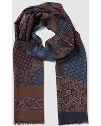 Mirto - Two-tone Wool Fancy Print Foulard - Lyst