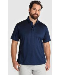 3dd12b405 Mirto Big And Tall Blue Short Sleeved Piqué Polo Shirt in Blue for ...