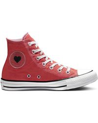 Converse - Chuck Taylor All Star Sucker For Love Unisex Casual Canvas High-top  Trainers a5ac695ae
