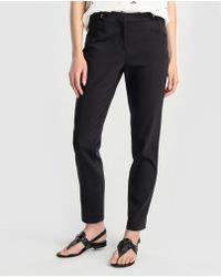 Zendra El Corte Inglés - El Corte Inglés Zendra Black Skinny Trousers - Lyst