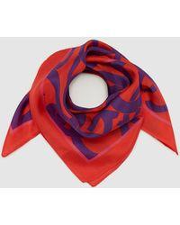 Gloria Ortiz - Orange Silk Handkerchief With Brand Emblem Print - Lyst