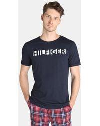 Tommy Hilfiger - Blue Short Sleeved Pyjama Top - Lyst