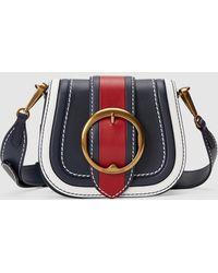 dae0587ea0 Polo Ralph Lauren - Small Colour Block Leather Crossbody Bag In Navy Blue