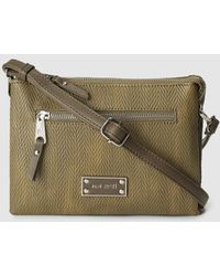 Pepe Moll - Small Khaki Crossbody Bag With Triple Compartment - Lyst