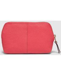 El Corte Inglés - Pink Leather Zip-up Toiletry Bag - Lyst
