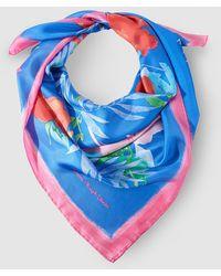 Lauren by Ralph Lauren - Blue Floral Print Silk Handkerchief - Lyst