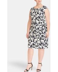 Denim & Supply Ralph Lauren - Plus Size Short Floral Print Dress - Lyst
