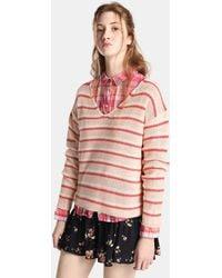 Green Coast - Striped V-neck Sweater - Lyst