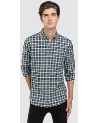 Green Coast - Green Checked Slim-fit Shirt - Lyst