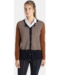 Indi & Cold   Striped Button-up Cardigan   Lyst