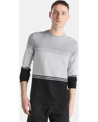 Green Coast - Tricoloured Jumper With A Round Collar - Lyst