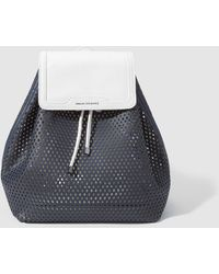 Armani Exchange - Navy Blue And White Backpack With Cutwork - Lyst