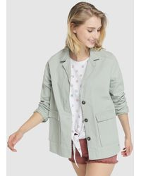 63014f00f00fb5 Green Coast - Jacket With Patch Pockets And Contrast Buttons - Lyst