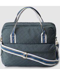 361b0d5bfa1 El Corte Inglés - Petrol Blue Nylon Briefcase With Tricoloured Handles -  Lyst