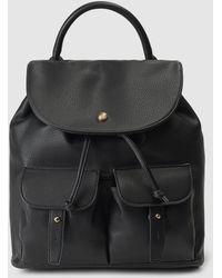 El Corte Inglés - Black Backpack With Outer Pockets - Lyst
