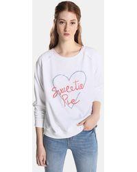 Green Coast - Raglan-sleeve Sweatshirt With A Front Print - Lyst