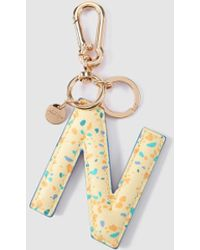 Jo & Mr. Joe - Yellow Charm Keyring With The Letter N - Lyst