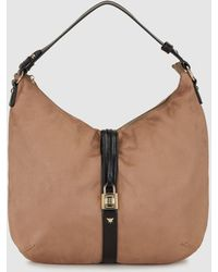 Pepe Moll - Taupe Hobo Bag With A Padlock Detail - Lyst