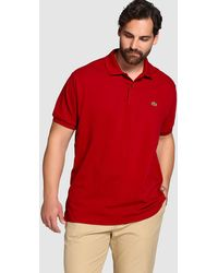 Lacoste - Big And Tall Red Short-sleeve Polo Shirt - Lyst