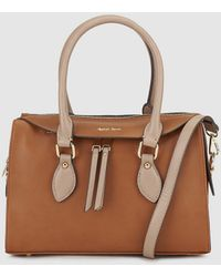 Robert Pietri - Camel Bowling Bag With Contrasting Polished Details - Lyst