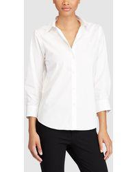 Lauren by Ralph Lauren - White French Sleeve Shirt - Lyst