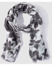 Caminatta - Black And White Printed Foulard - Lyst