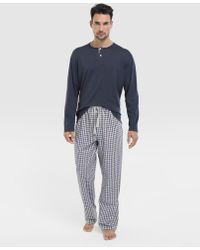 Mirto - Long Combined Multicoloured Pyjamas - Lyst