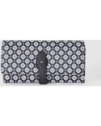 El Corte Inglés - Wo Large Black Wallet With A Geometric Print And Tab Closure - Lyst