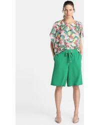 Zendra El Corte Inglés - El Corte Inglés Zendra Loose Green Bermuda Shorts - Lyst