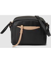 948b0a55ad7f59 El Corte Inglés - Small Black Crossbody Bag With A Removable Pocket - Lyst