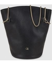 Georges Rech - Wo Black Leather Crossbody Bag With Chain Strap - Lyst