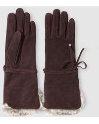 Lauren by Ralph Lauren - Brown Suede Gloves - Lyst