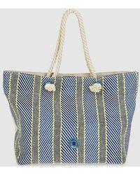 Caminatta - Cotton Beach Bag In Blue Tones - Lyst