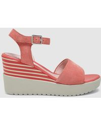 Stonefly - Pink Wedge Sandals - Lyst
