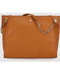 Gloria Ortiz - Lee Camel Shopper Bag With Chain Strap - Lyst