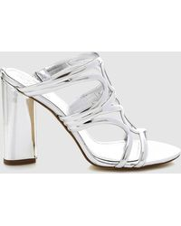 Guess - Silver Clogs With Plaited Vamp - Lyst