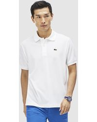 Lacoste | White Short Sleeve Polo Shirt | Lyst
