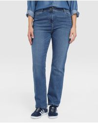 Couchel - Plus Size Faded-effect Straight Jeans - Lyst
