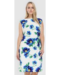 Denim & Supply Ralph Lauren - Plus Size Printed Dress With Draped Side - Lyst